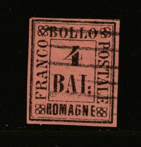 Romagna (Italy) a used 4baj from 1859