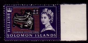SOLOMON IS 1966-67 $2 on £1 canoe prow MNH.................................43236