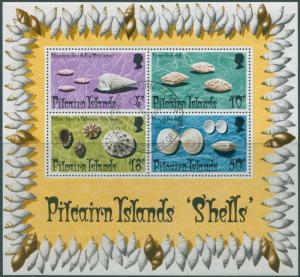 Pitcairn Islands 1974 SG151 Shells MS FU