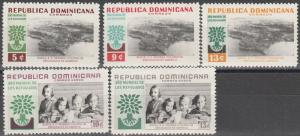 Dominican Republic #522-4, C113-4   MNH CV $2.55