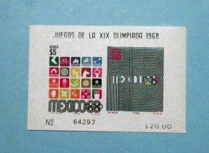 Mexico - C344a, MNH S/S. Olympics. SCV - $20.00