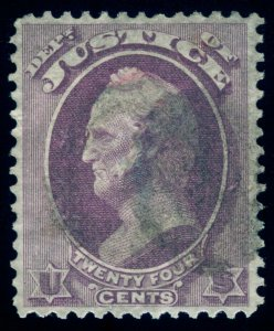MOMEN: US STAMPS #O32 OFFICIAL USED VF