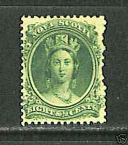 Nova Scotia #11 VF MINT - 1860 8 1/2c Queen Victoria