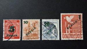Berlin - West Germany 1949. - Overprint in green # USED Complete set