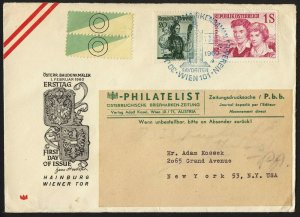 wc039 Austria Vienna Wien Feb. 1, 1960 FDC first day cover
