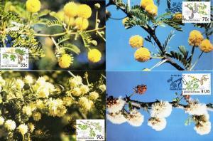 Bophuthatswana - 1992 Acacia Trees Maxi Card Set SG 276-279