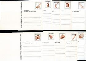 BOPHUTHATSWANA 1985 - Stamped Card-Utensils Set of 10(WF203)