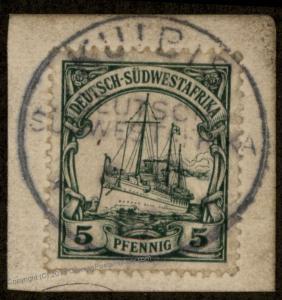 Germany 1907 SW Africa KUIBIS DSWA Wmk Yacht 89882