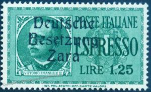 Germany WWII Italy Zara Mi21 MNH Postfrisch Croatia Zadar Expertized Ludin 92015