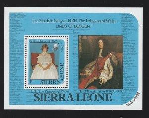 Sierra Leone souvenir sheet  mnh  sc 534