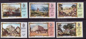 Jersey-Sc#340-5-unused NH set-Paintings-Links with Australia-1984-