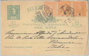 75394 - PORTUGAL - POSTAL HISTORY -  POSTAL STATIONERY  CARD  to ITALY  -- 1903