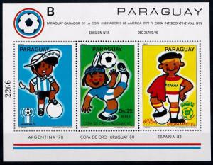 [69011] Paraguay 1980 World Cup Football Soccer B Sheet MNH