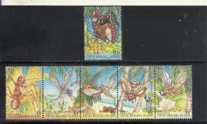 Cocos Islands #302-3 comp mnh Scott cv $8.75 Insects