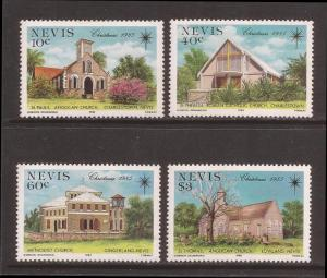 Nevis MNH 456-9 Christmas Churches 1985