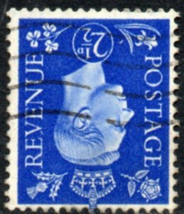 1937 Sg 466Wi 2½d ultramarine Inverted Watermark Fine Used