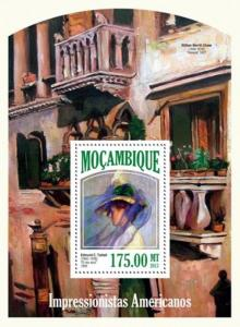 Mozambique - 2013 American Impressionist Artists Stamp S/S 13A-1371