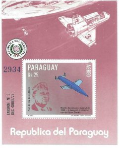 1983    PARAGUAY  -  PROFESSOR DR. ING EUGEN SANGER  -  MNH