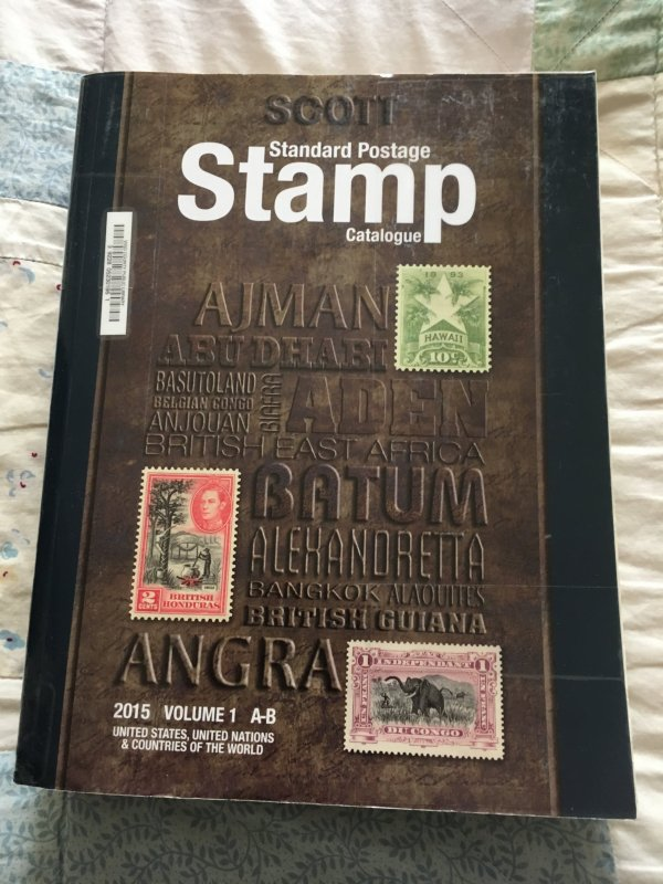 Scott 2015 Standard Postage Stamp Catalogue Volume 1: A - B Countries ExLibrary