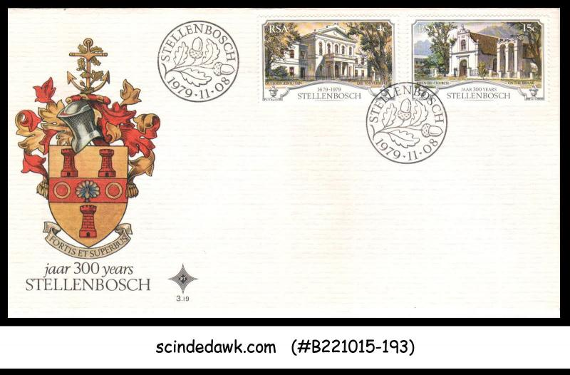 SOUTH AFRICA - 1979 300years OF STELLENBOSCH - 2V - FDC