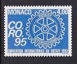 Monaco  #1939   MNH  1995  Rotary Intenational
