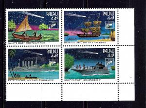 Palau 98a MNH 1985 Boats Block of 4