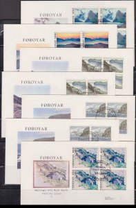 FAROE ISLANDS - 1975 LANDSCAPES - SET OF 5 FDC