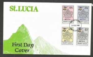 1985 Scouts St Lucia Girl Guides 75th anniversary FDC