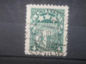 LATVIA, 1923, used 4s, Arms and Stars. Scott 115