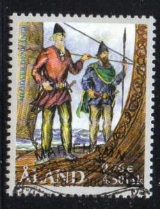 Aland Finland Sc 169 2000 Vikings stamp used