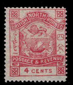 North Borneo Scott 39 MH* per 14