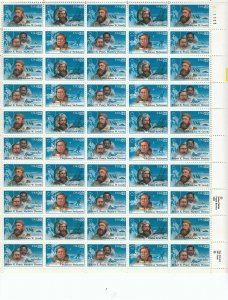 Stamp US Sc 2220-3 Sheet 1986 Arctic Explorers North Pole Greely Stefan on MNH