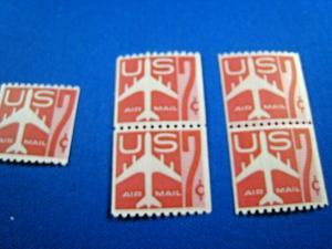 U.S. SCOTT # C61  -  SINGLE, PAIR, LINE PAIR     MNH