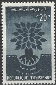 Tunisia  356-7  MNH  World Refugee Year