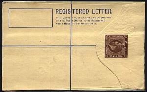 FIJI GV 2d Registered envelope optd SPECIMEN on reverse - fine.............19794