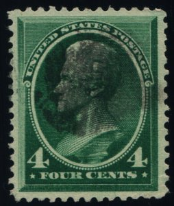 Scott #211 VF - Jackson - 4c Blue Green - Used - 1883
