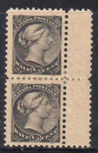 Canada #34 VF LH Pair With Gutter at Right C$60.00