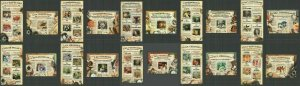 CA260-269 2015 CENTRAL AFRICA ART PAINTINGS GREAT PAINTERS !!! 10KB+10BL MNH