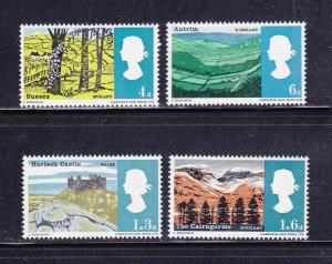 Great Britain 454p-457p Set MH Views
