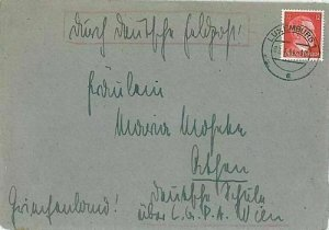 11899 - LUXEMBOURG -  POSTAL HISTORY - COVER with GERMAN STAMP  1944