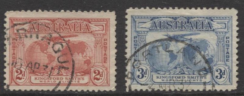 Australia - Scott 111- 12-Set of 2 -Kingsford Smith  -1931- Fine Used