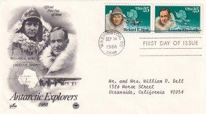 1988, Antarctic Explorers, Art Craft/PCS, FDC (E11618)