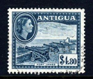 ANTIGUA Queen Elizabeth II 1953 $4.80 Slate-Blue Highest Value SG 134 VFU