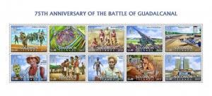 Solomon Islands - 2017 Guadalcanal - 10 Stamp Sheet - SLMLocal01a