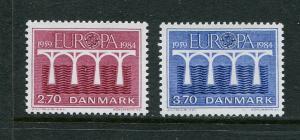 Denmark #755-6 MNH 1984 Europa