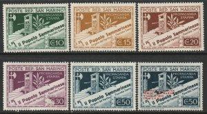 San Marino Sc 203-207,214 partial set MH