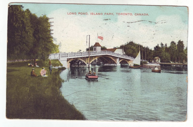 Z621 1909 toronto canada  stamped postcard mail to parkersburg West Virginia