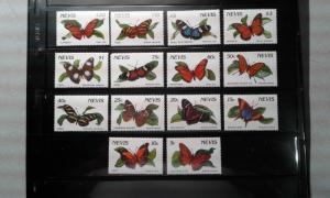 Nevis  #640-653 MNH butterflies e1812.2744