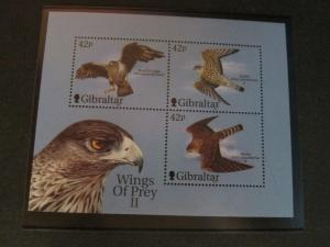 Gibraltar 2000 Sc 853d Bird set MNH