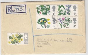 19XX, Great Britain: Flowers, Registered (S18886)